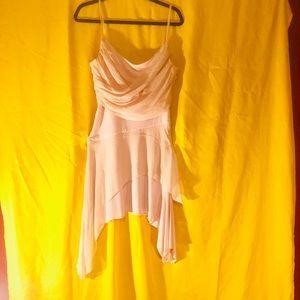 Light pink silk lace dress